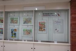 国の天然記念物「奈良のシカ」保護啓発ポスターコンクール作品展示③奈良市美術館壁面ギャラリー
