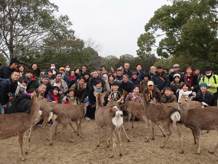 2月9日奈良大和路キャンペ-ン「鹿寄せ」