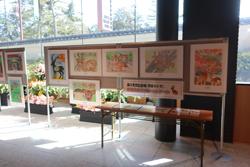 国の天然記念物「奈良のシカ」保護啓発ポスターコンクール作品展示④奈良公園バスターミナル